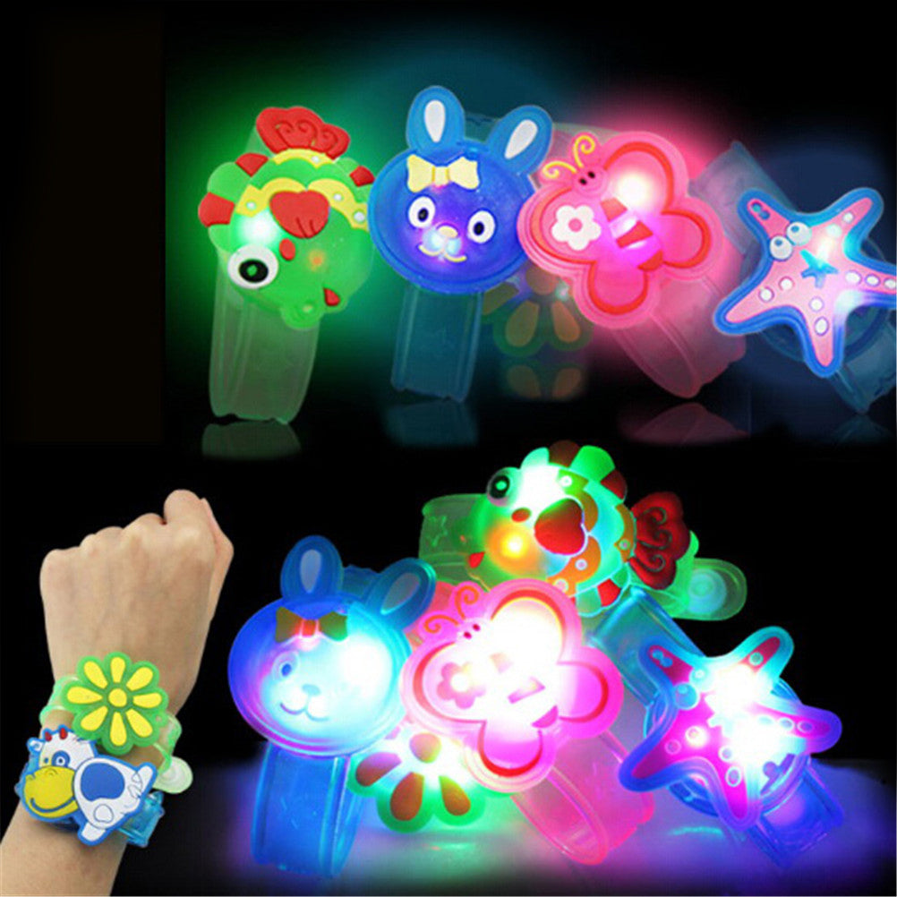 Flashlight LED Wrist Watch Bracelet Toy Cute Cartoon Halloween Xmas Kids Gift