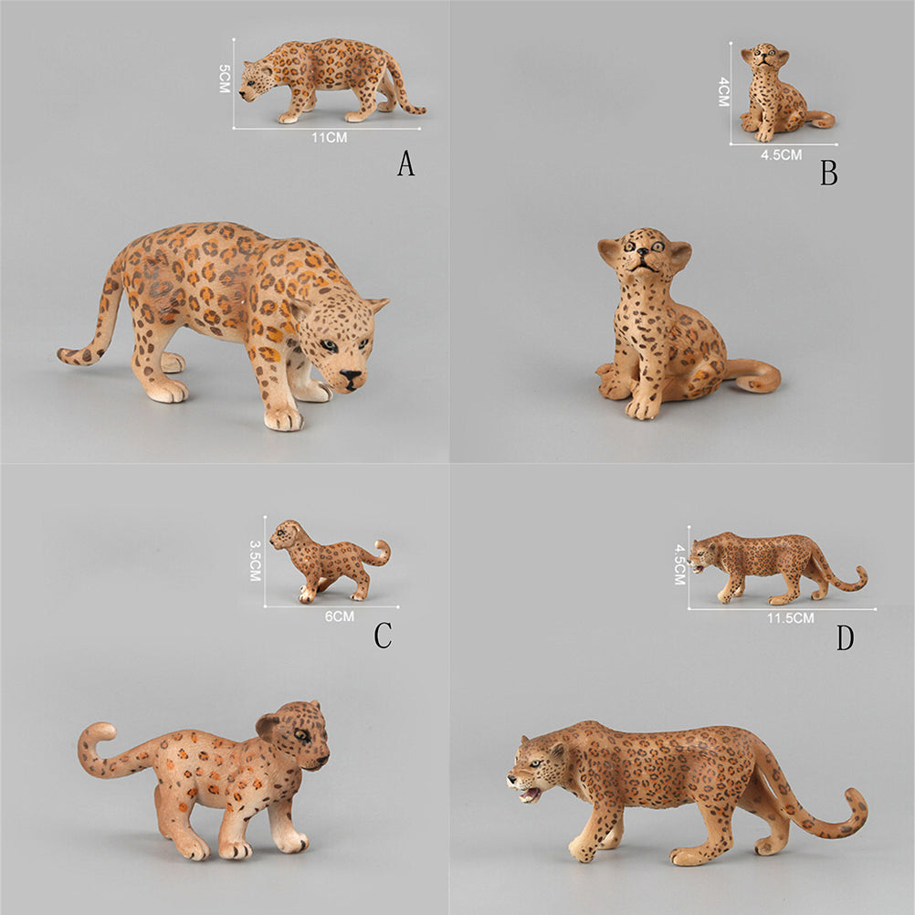 Plastic Zoo Animal Figure Leopard Toy Lovely Animal Gift Toys For Kids