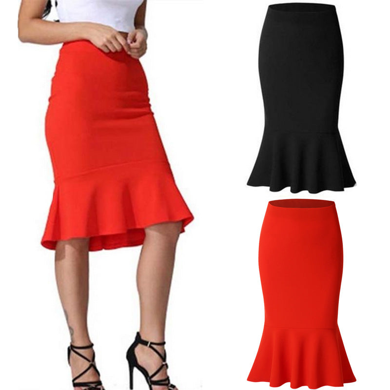 Womens Solid Office Skirt High Waist Shorts Pure Color Casual Elasticband Skirts