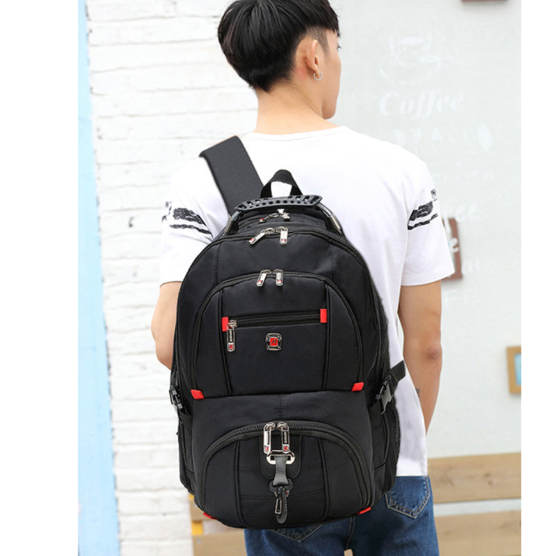 Men's Travel Sport Rucksack 15 Laptop Backpack Shoulder Swiss Hiking School Bag