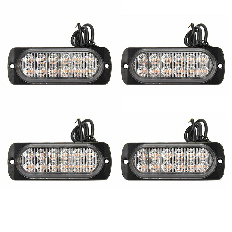 4X 12 LED car truck front flashing light flashing warning light 12 / 24V