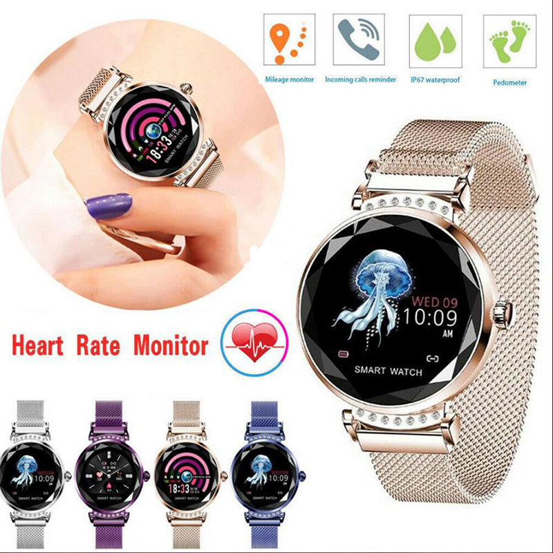 Women's Diamond Sports Waterproof Heart Rate Fashion Intelligent Bracelet