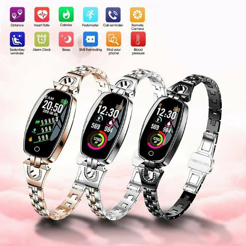Ladies Lady Bluetooth Smartwatch Foot Counter wristwatch Sports Fitness Tracker