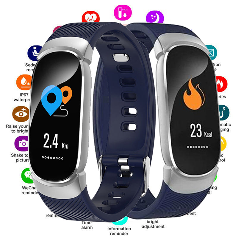 Ladies Smart watch Bracelet Heart Rate Heart Rate Monitor for iOS Android
