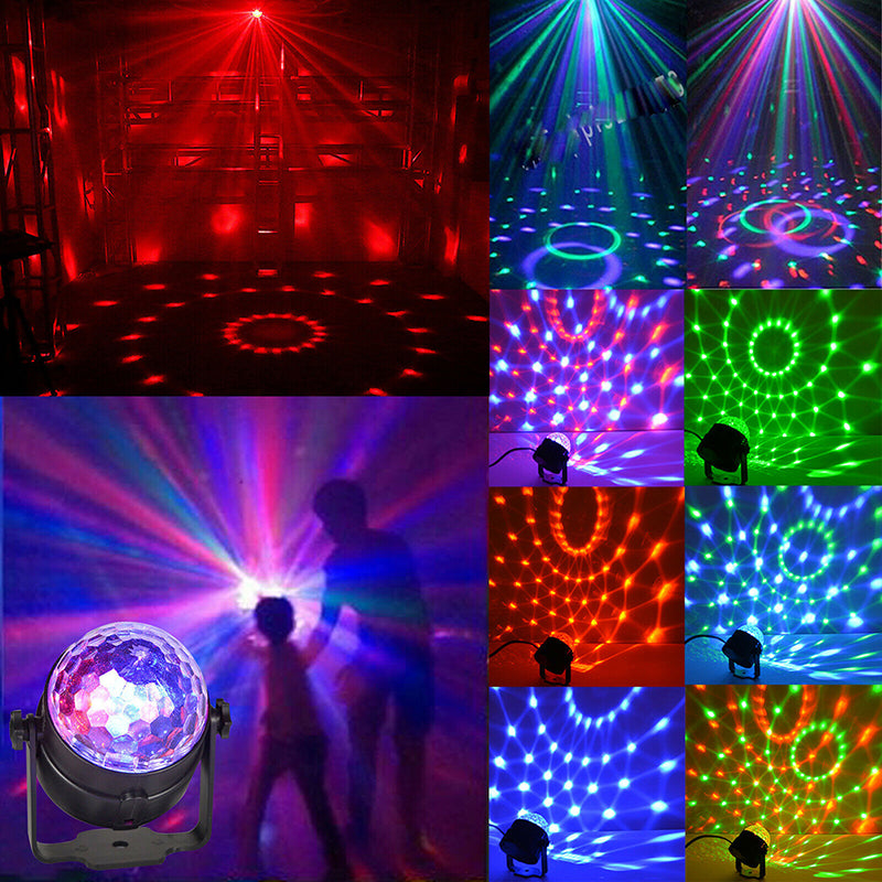 LED Disco Ball Light Effect DJ Automatically LED Party Bar Pubs Remote Control