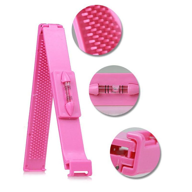 Useful DIY 1 Pc Professional Bangs Hair Cutting Clip Hairstyle Trim Ruler Tool