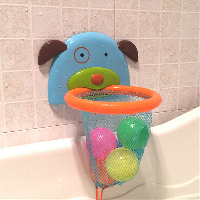 Bathtub Shoot and Splash Cute Puppy Shaped Design Basketball Hoop for Kids