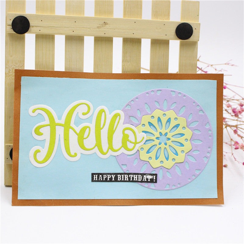 Hello Alphabet Design Metal Cutting Die For DIY Scrapbooking Album Paper Cards