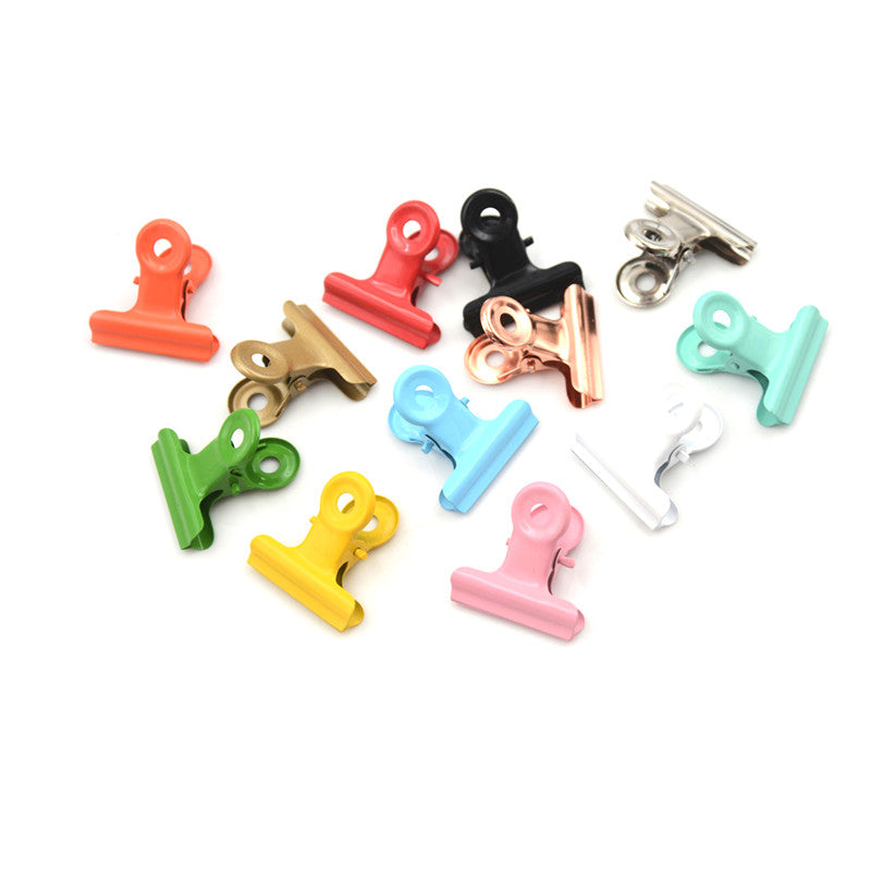 5pcs/lot Cute Metal Binder Clips Folder Notes Letter Paper Clip Clamp