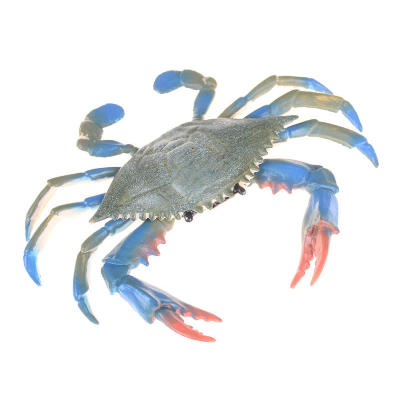 PVC Blue Crab Realistic Sea Animal Model Solid Figure Ocean Kids Toy Gift