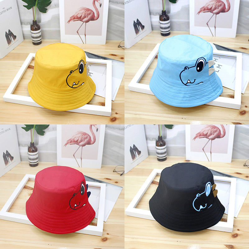 Dinosaur Baby Hat Cotton Double-sided Bucket Hat Baby Spring Autumn Cap Kids Hat