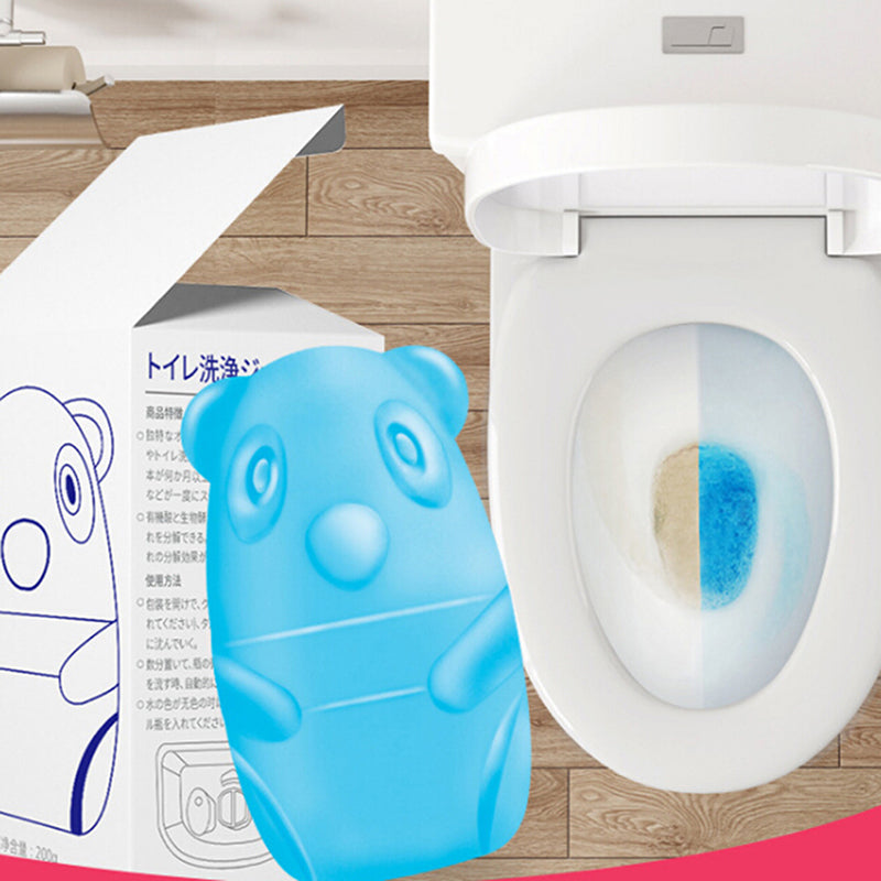 Cute Blue Bear Toilet Cleaner Magic Automatic Flush Toilet Cleaner 65 Days Use