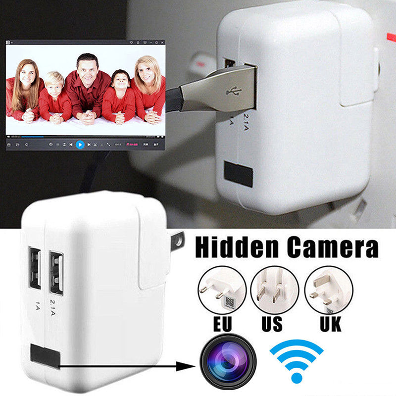 Wifi/no wifi HD 1080P usb wall charger mini IP motion hidden camera security