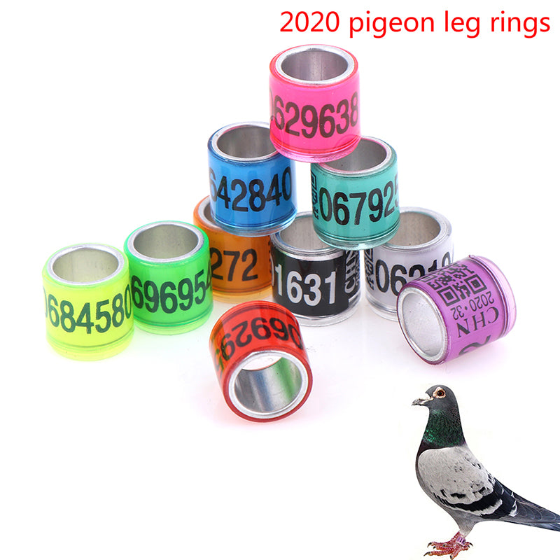 2020 20pcs 8mm pigeon leg rings identify dove bands pigeon training supplies