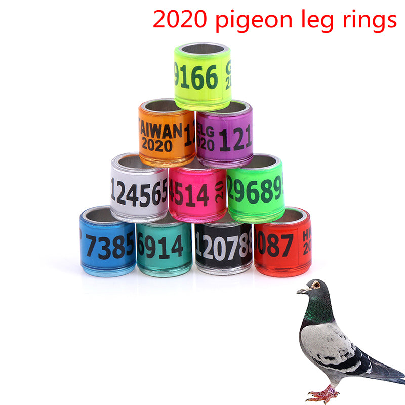 2020 20pcs 8mm pigeon leg foriegn rings identify bands pigeon training supplies