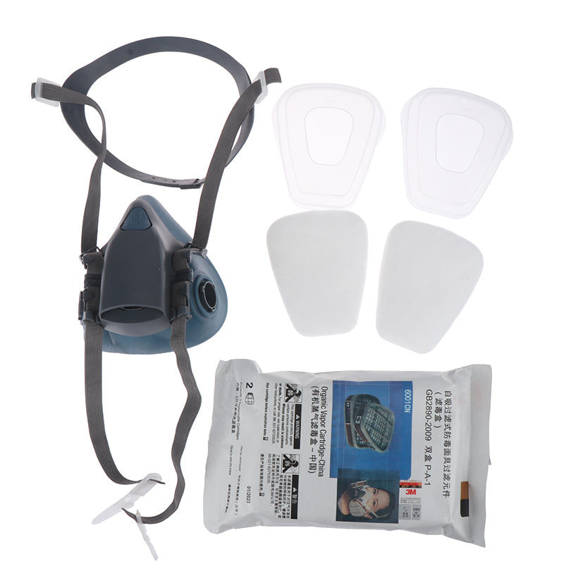 7502 7 Piece Suit Respirator Painting Spraying Face Gas Mask