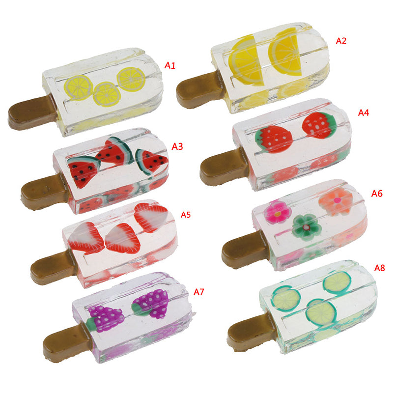 1pc Artificial Popsicle Ice Cream Fake Food Decor Miniature Dollhouse Decoration