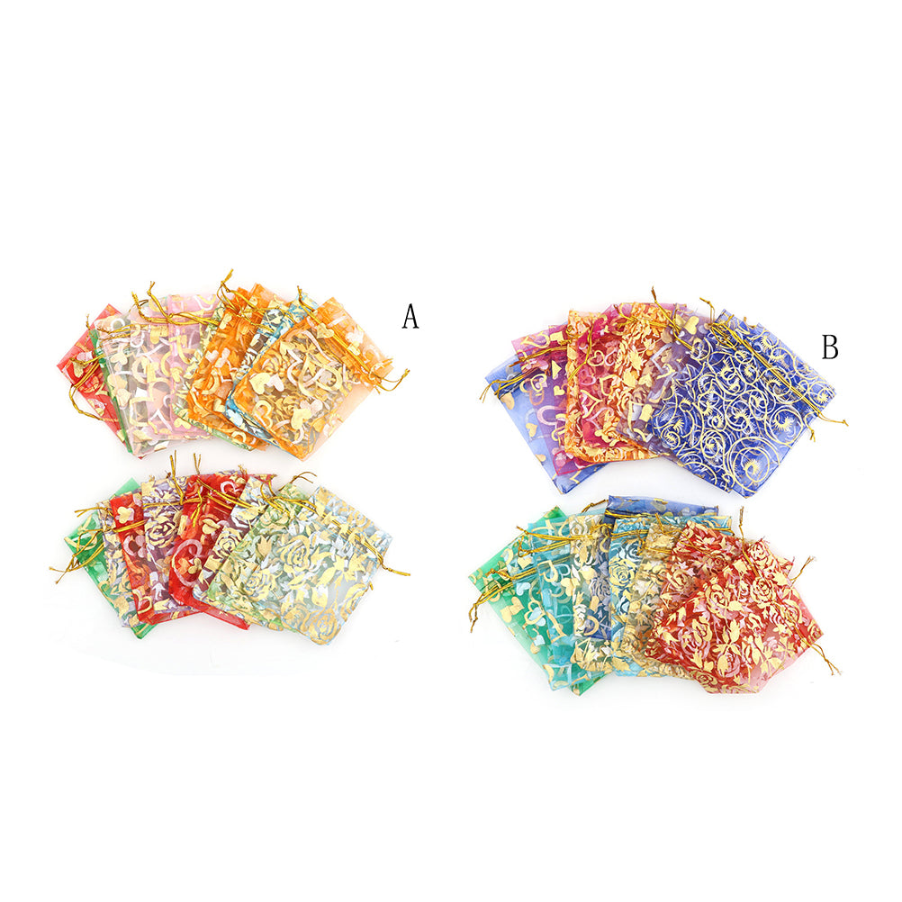 New 20x Organza Jewelry Wedding Gift Pouch Bags 7x9cm 3X4 Inch Mix Color
