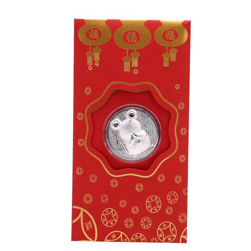 Rat Year Coin Commemorative Red Envelopes Challenge Coin Collection Crafts Gifts