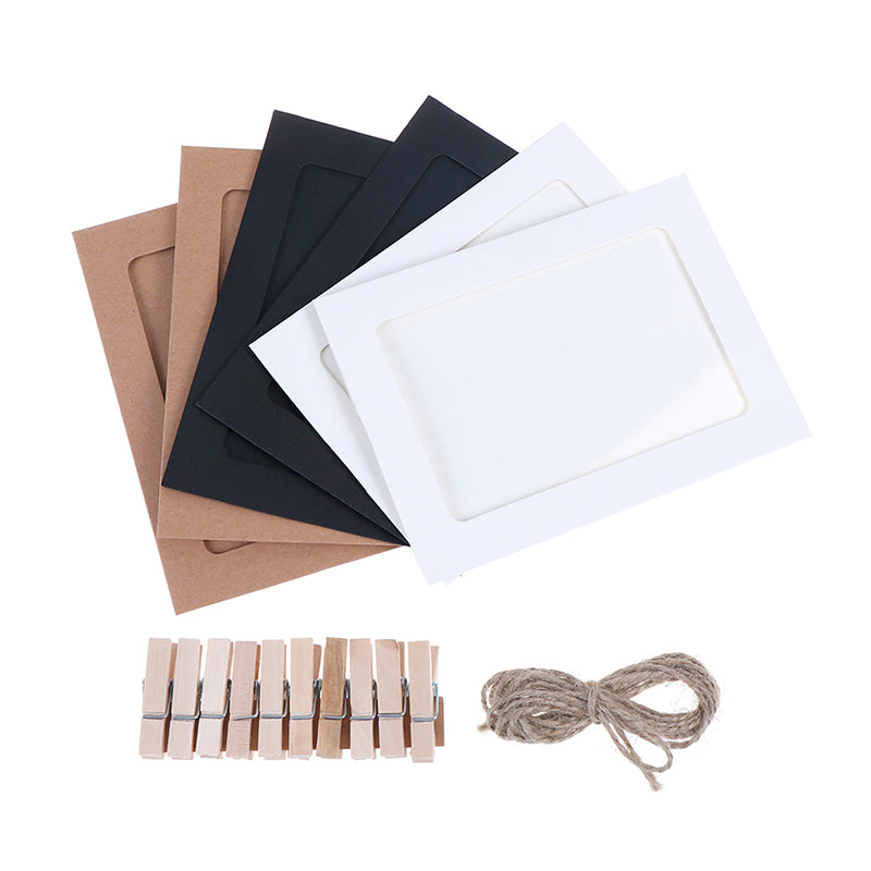 10Pcs Wall Hanging Photo Paper Frame Set Picture Display Modern Home Decor