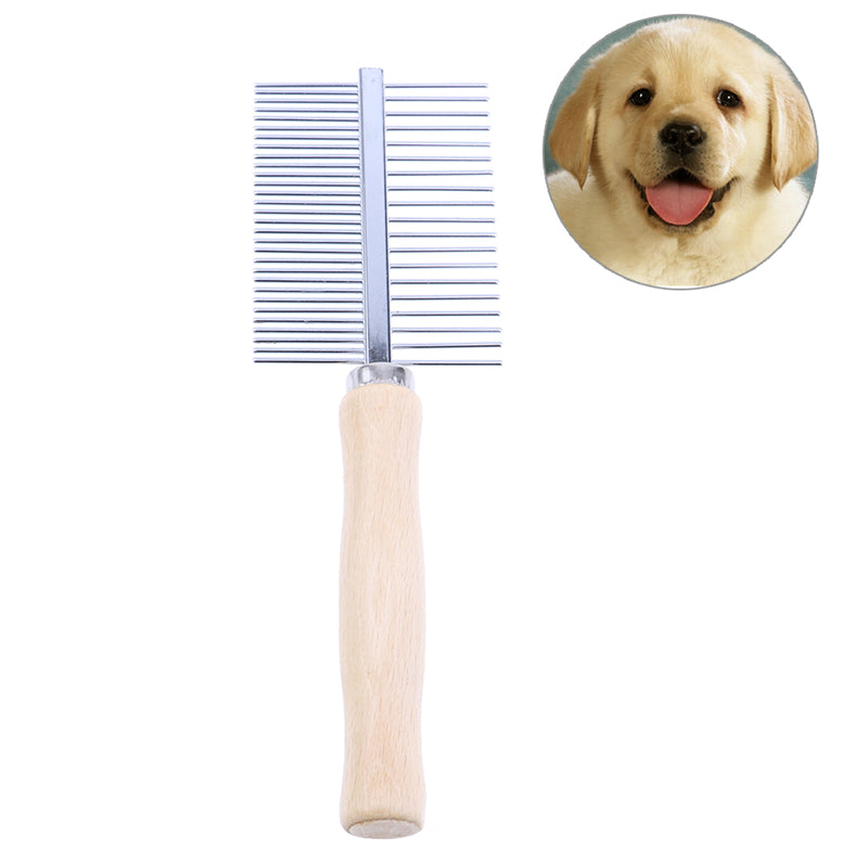 1pc Dog Comb Stainless Dog Grooming Brush For Dogs Cat Removed Flea Combs