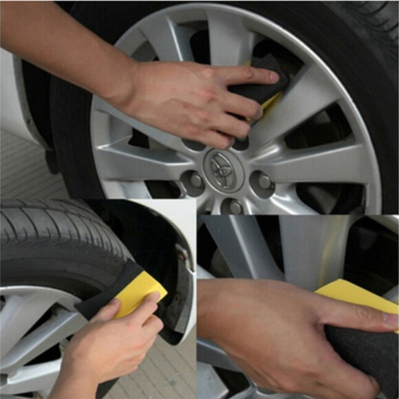 Auto Wheels Brush Sponge Tools Applicator Special For Tire Hub Cleaning