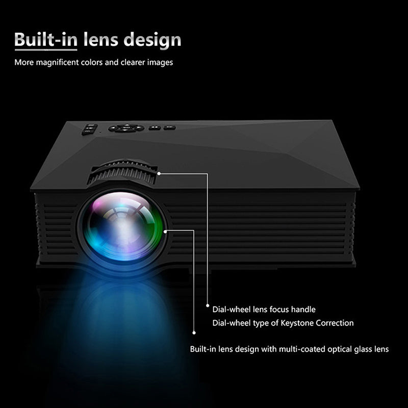 UNIC UC68H LED 1080P Projector Beamer Mini Wireless Multimedia Theater Projector