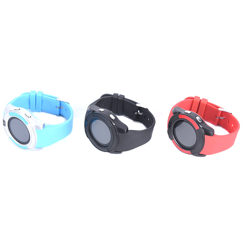 V8 Bluetooth Smart Watch Sports Pedometer Clock With SIM Card For Android
