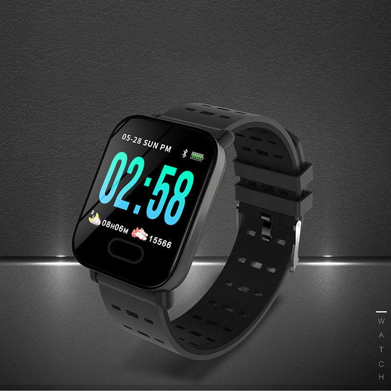A6 Smart Watch Heart Rate Blood Pressure/Oxygen Monitor Fitness Tracker Bracelet