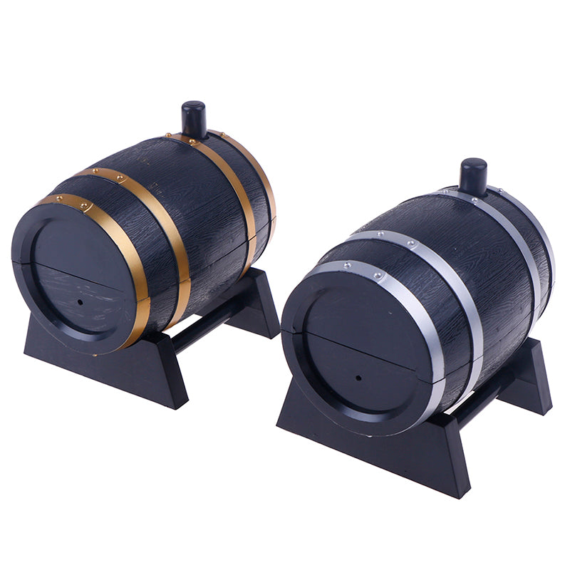 Wine Barrel-Shaped Toothpick Holders Automatic Plastic Storage Box Container