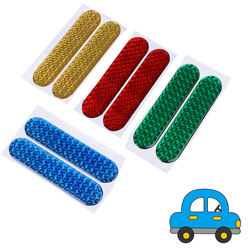 4 Pcs Car Door Open Sticker Reflective Tape Safety Warning Decal