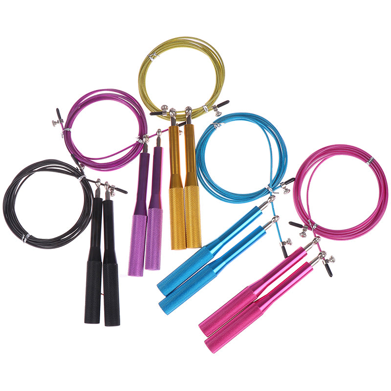 1 Pcs Adjustable Jumping Rope Aluminum Alloy Handle Wire Rope Skipping Training