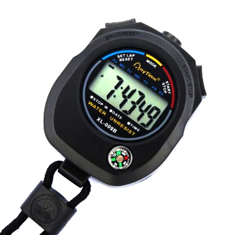 Waterproof Digital LCD Chronograph Timer Counter Stopwatch Alarm with Strap