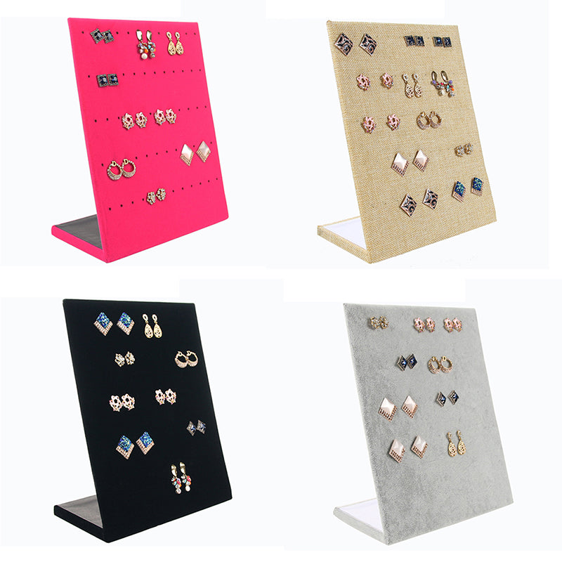 1 PC Velvet Earring Jewelry ShowCase Display Rack Stand Organizer Holder Hot Sale
