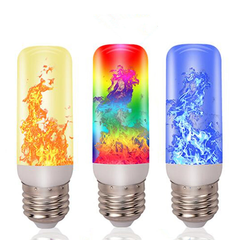 3/4 Modes E27 LED Flame Effect Flame Fire Light Bulb Flickering Lamp Room Decor