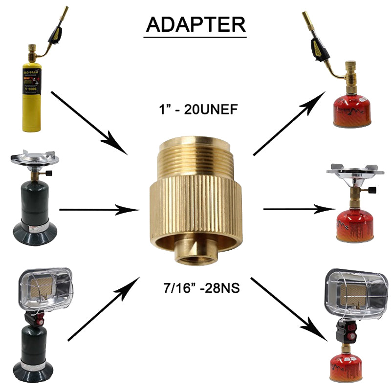 1pc Gas Convertor Shifter Refill Adapter Stove Cylinders Gas Cartridge Head