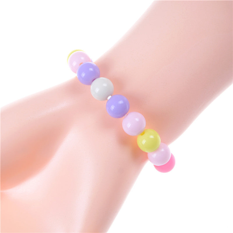 Girls Acrylic Handmade DIY Candy Color Beads Bracelets Fashion Jewelry Gifts