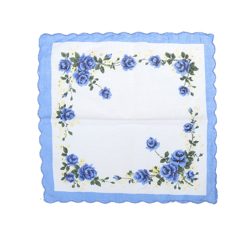 10pcs Elegant Vintage Floral Flowers Handkerchief Lady Women Kids Cotton Hanky