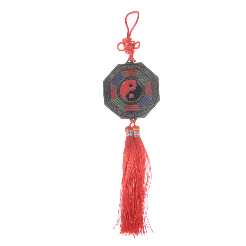 Chinese Feng Shui Bagua Mirror Good Luck Fortune Prayer Hanging Charm Gift