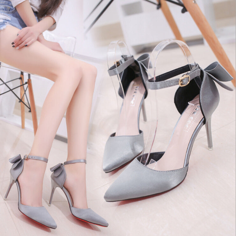 Women High Heels Brand Pumps Women Shoes Pointed Toe Buckle Strap Butterfly