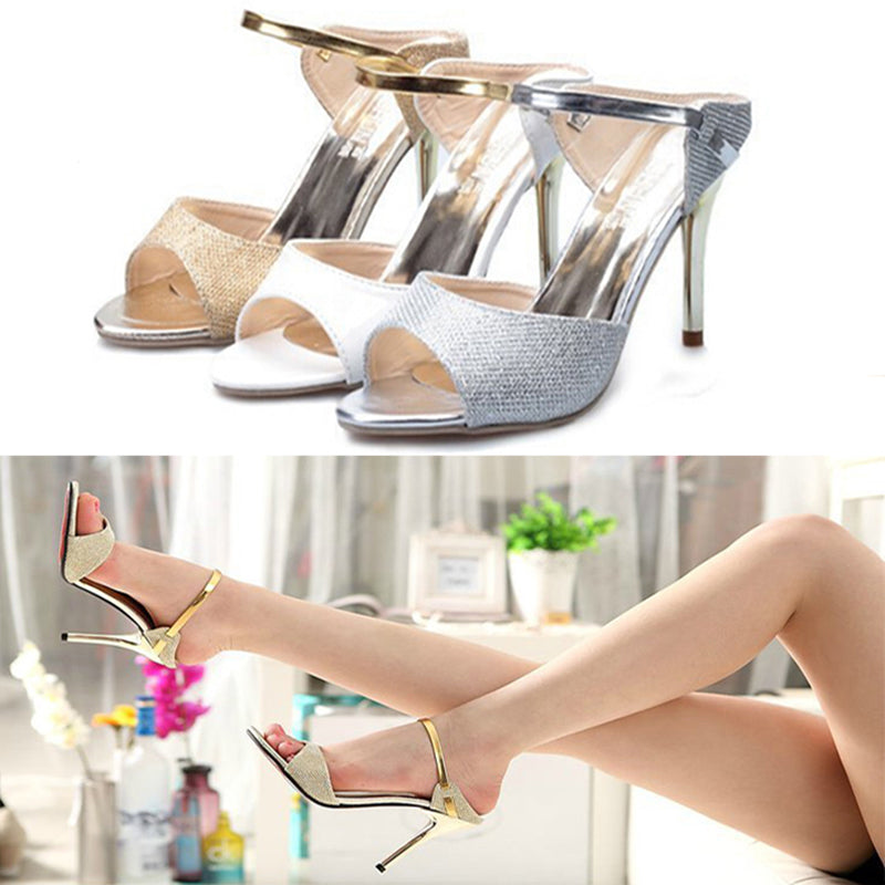 9CM Heel Women Fish Mouth Stiletto High Heel Sandal Shoes