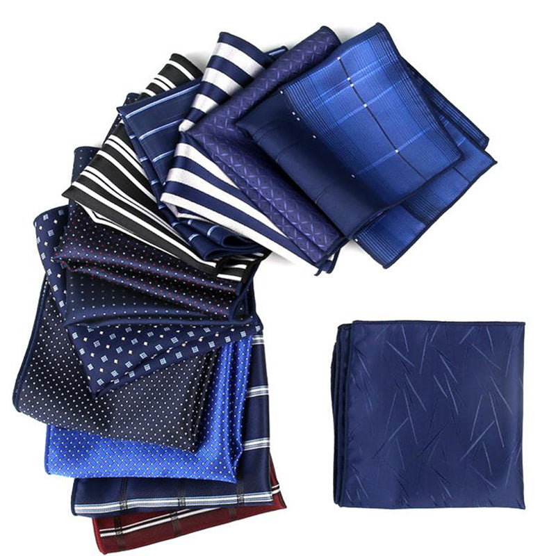 Men Business Silk Polyester Pocket Square Hanky Wedding Party Handkerchief