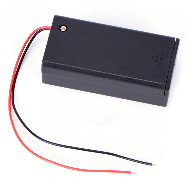 9V Volt PP3 Battery Holder Box DC Case With Wire Lead ON/OFF Switch Cover