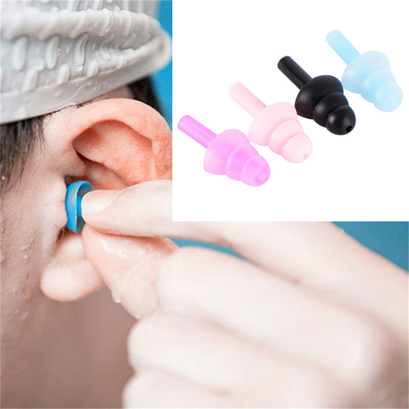 4PCS For Study Sleep Silicone Ear Plugs Anti Noise Snore Earplugs Comfortable