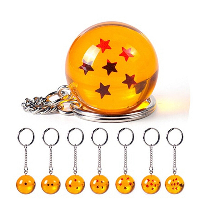 1PC Anime Dragon Ball Crystal Ball Ball Stars Keychain Keyring Pendant  Cosplay