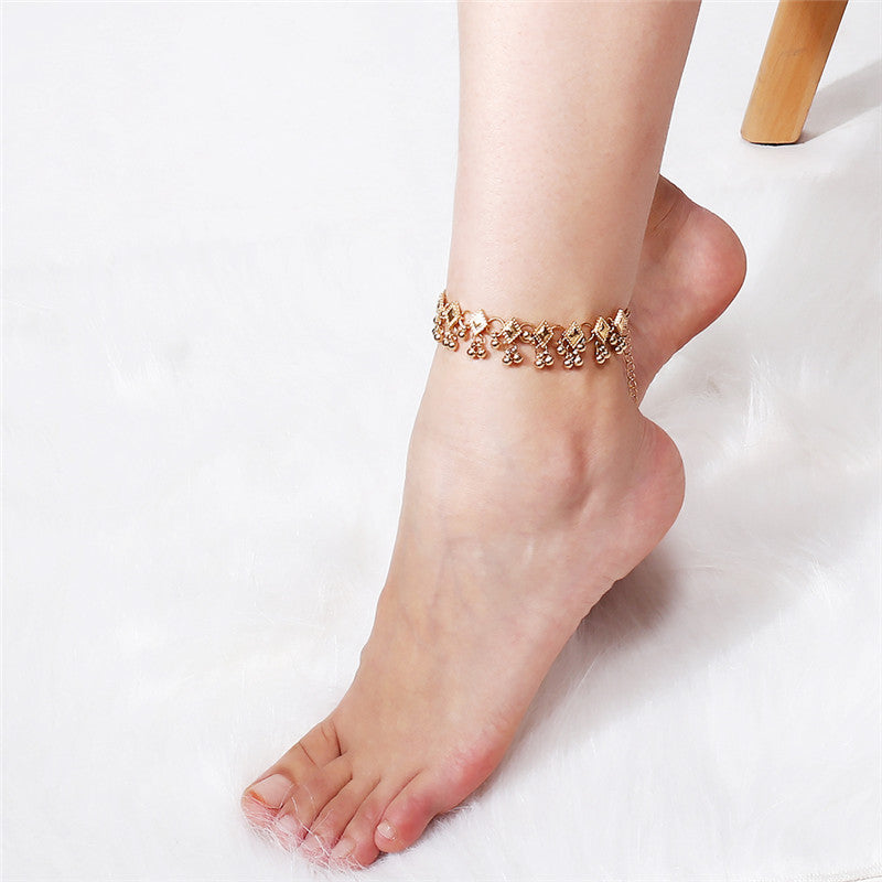 Women Tassel Chain Anklet Ankle Bracelet Foot Chain Anklet Jewelry Sandal Beach