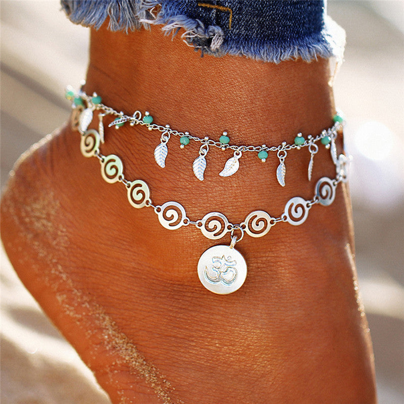 Multilayer Boho Beads Barefoot Sandal Anklet Foot Chain Jewelry Ankle Bracelet