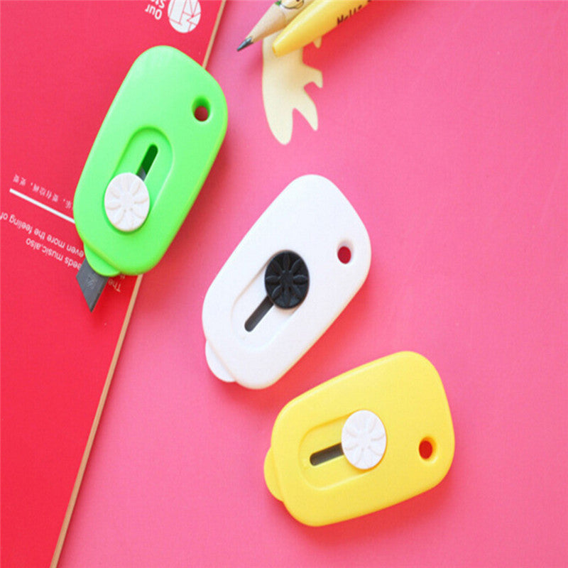 Mini Portable Knife Paper Cutter Cutting Paper Razor Blade Office Stationery New
