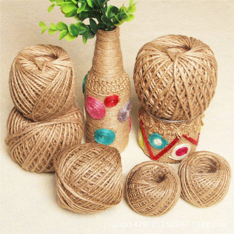 90M Natural Brown Jute Hemp Rope Twine String Cord Shank Craft String DIY Making