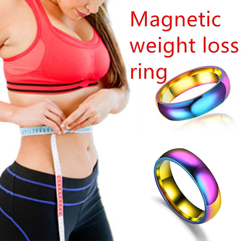 Multicolor Weight Loss Ring Slimming Healthy Stimulating Ring Magnetic Jewelry